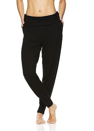 dd21595d2f169 Gaiam Women's Piper Crop Harem Yoga Pants - Activewear Bottoms w/Fold Over  Waistband -
