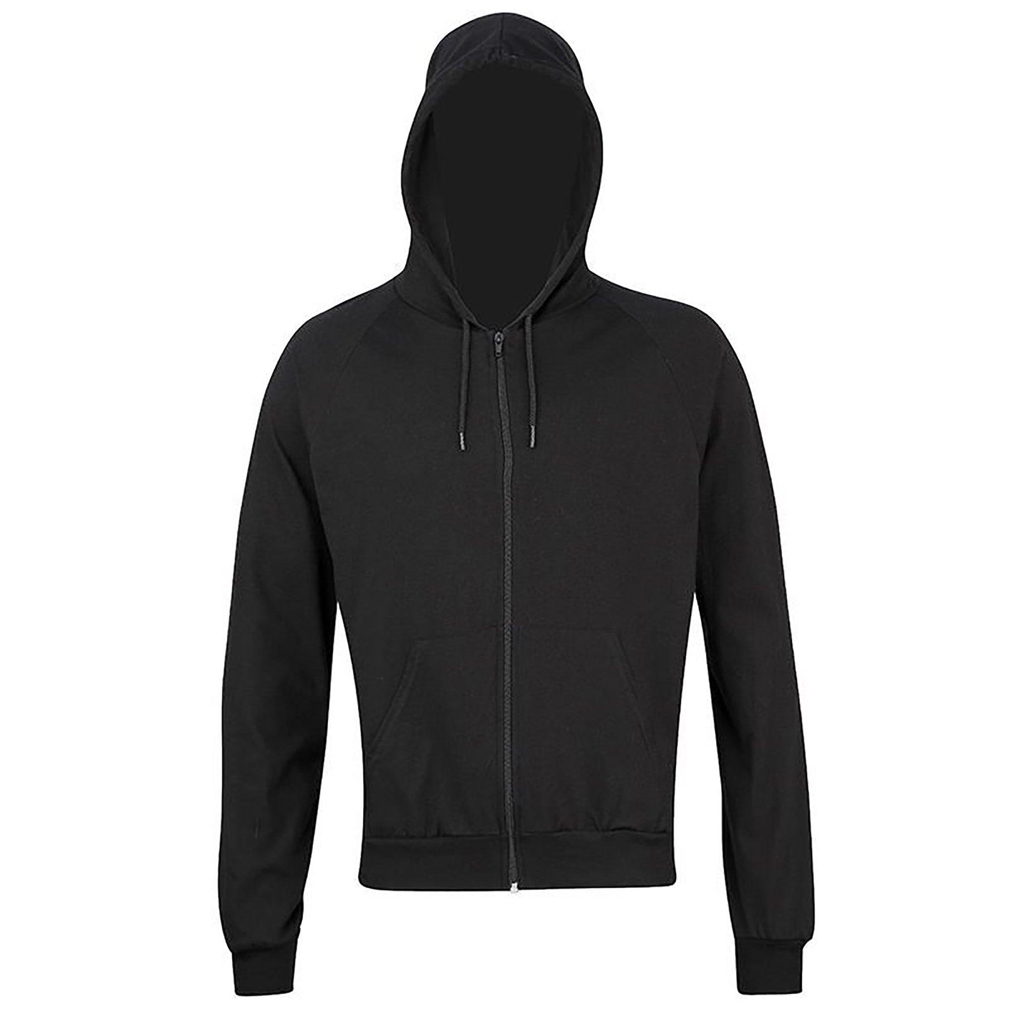 American Apparel Unisex Fine Jersey Zip Hoodie (M) (Black)
