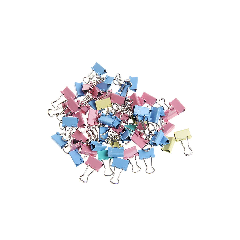 MuZuZi 60Pcs 15mm Raccoglitore di clip File Clip metallica colorata