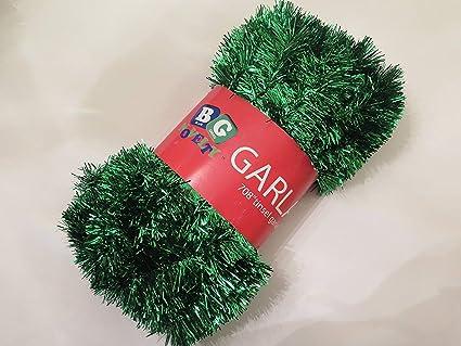 Amazon blue green novelty green foil tinsel christmas garland