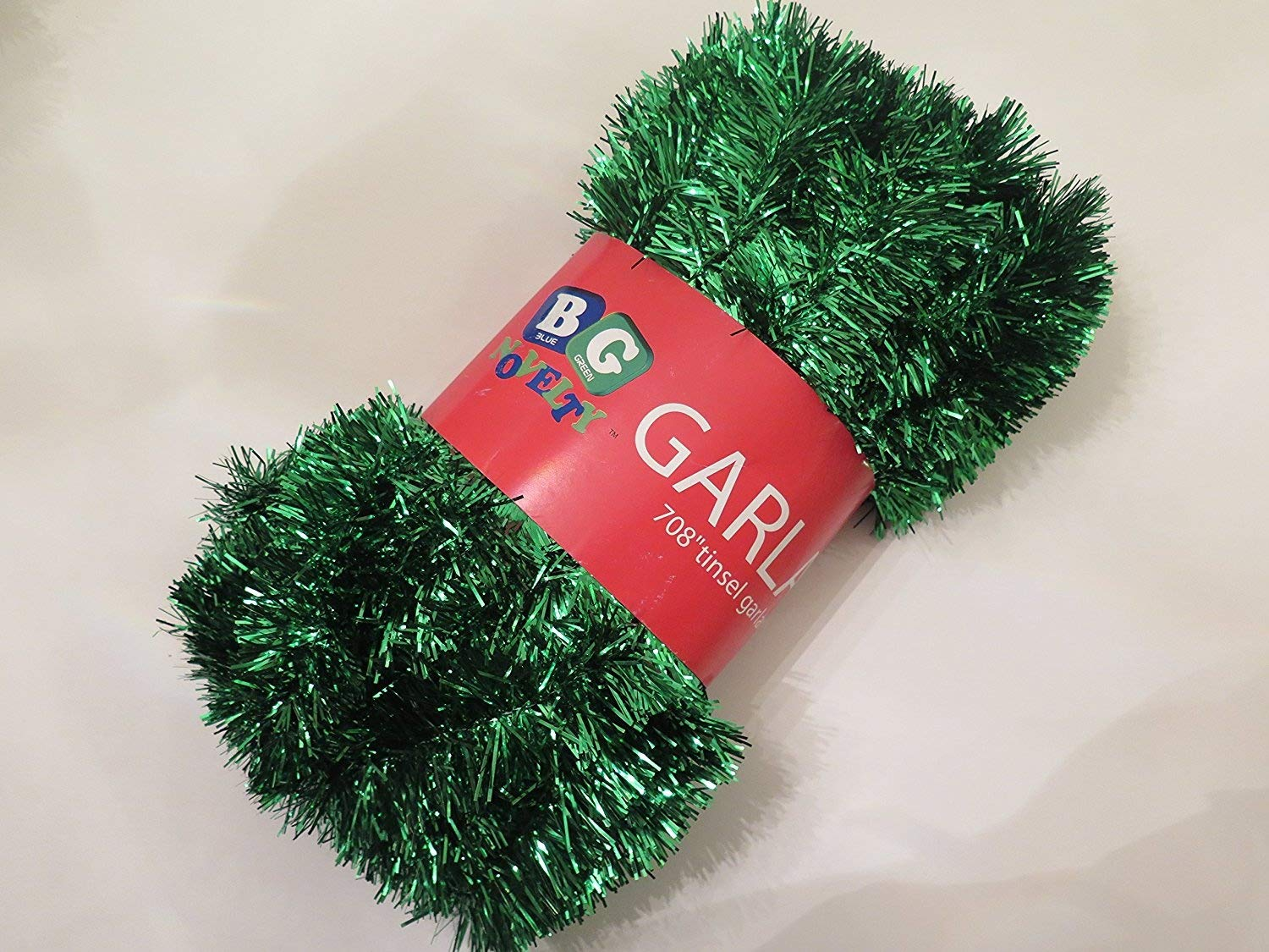 Blue Green Novelty Green Foil Tinsel Christmas Garland 708'' (59 Feet)