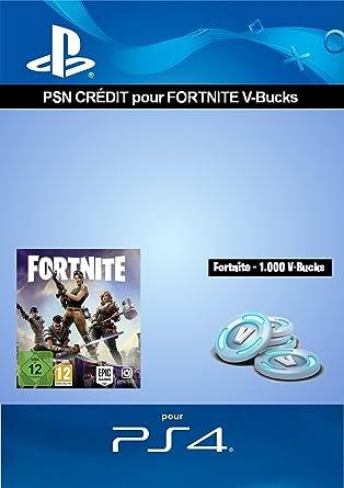 credit psn pour fortnite 1 000 v bucks 1 000 v bucks dlc code jeu ps4 compte francais amazon fr jeux video - compte fortnite perdu