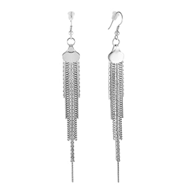 grey dangle petal tassel pin liked long jewelry featuring bling polyvore dome chain earrings on