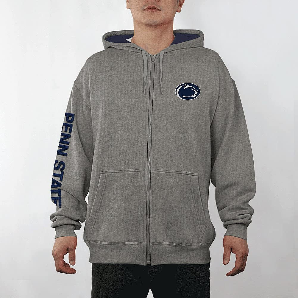 Elite Fan Shop NCAA Mens Zip Up Hoodie Sweatshirt Gray