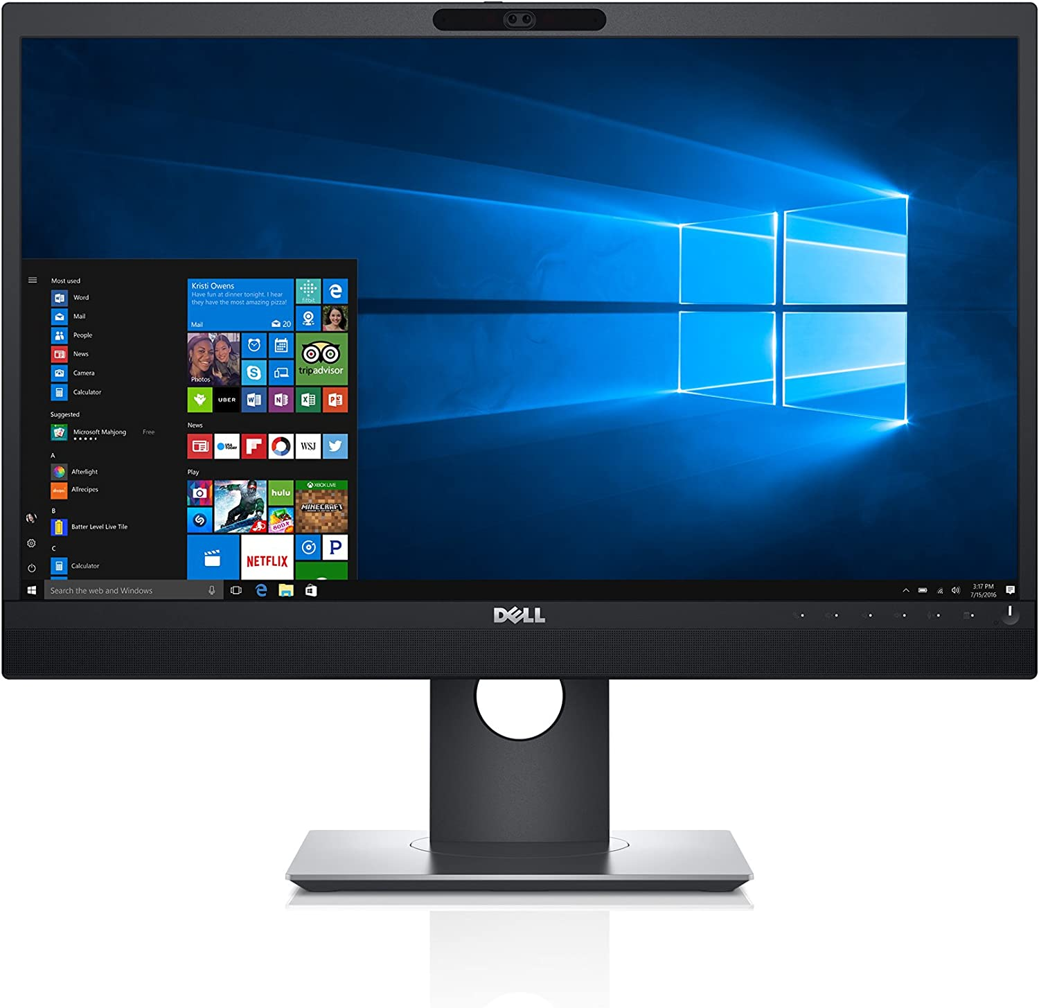 "Dell P2418HZm 24"" Monitor for Video Conferencing - P Series,black/silver"