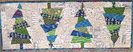Christmas Runner Quilt Pattern.Crazy Christmas Trees Table Runner Quilt Pattern By Cut Loose Press And Natural Comforts Quilting