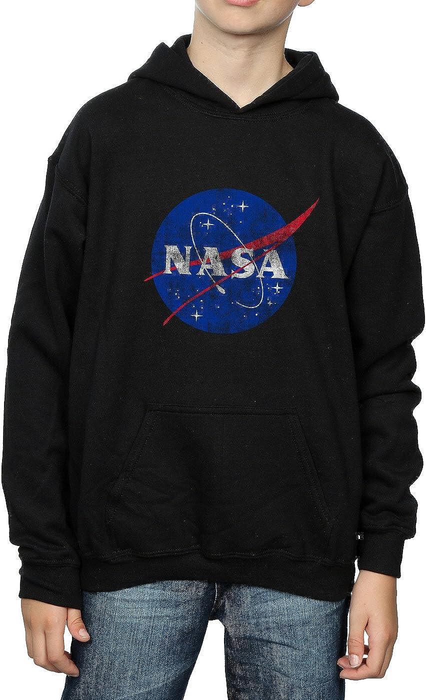 NASA Boys Classic Insignia Logo Distressed Hoodie