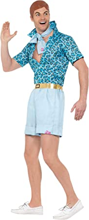 Smiffy's 42979L - Disfraz de Ken, Barbie, Safari, Talla Grande, 106,68 - 111,76 cm, Color Azul