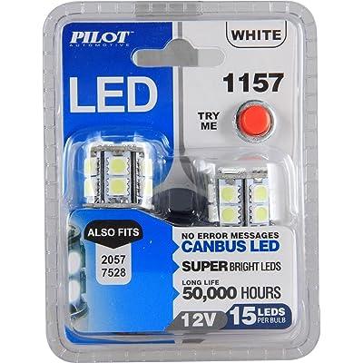 Pilot Automotive (IL-1157W-15-AM) White 15-SMD LED Turn/Tail Light Bulb - 2 Piece: Automotive