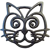 Cat Trivet - Black Cast Iron - for Kitchen & Dining Table - More Than One Makes a Set for Counter, Wall Art or Decoration Acc