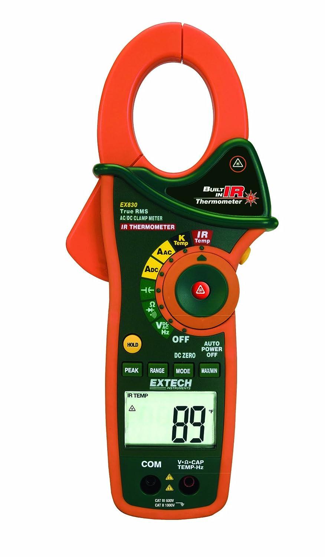 Extech EX810 Medidores de pinza de 1.000 amperios con termómetro infrarrojo: Amazon.es: Industria, empresas y ciencia