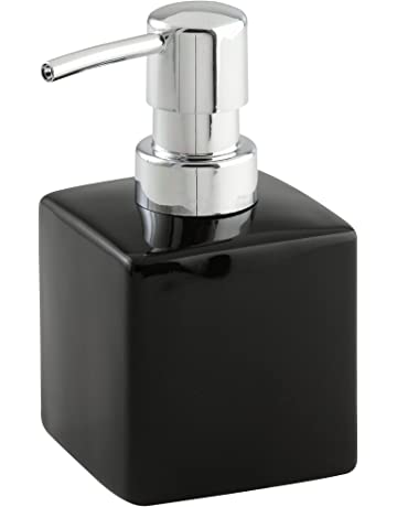 Wenko - Dispensador de jabón de cerámica, Forma Cuadrada, 240 ml, 7 x