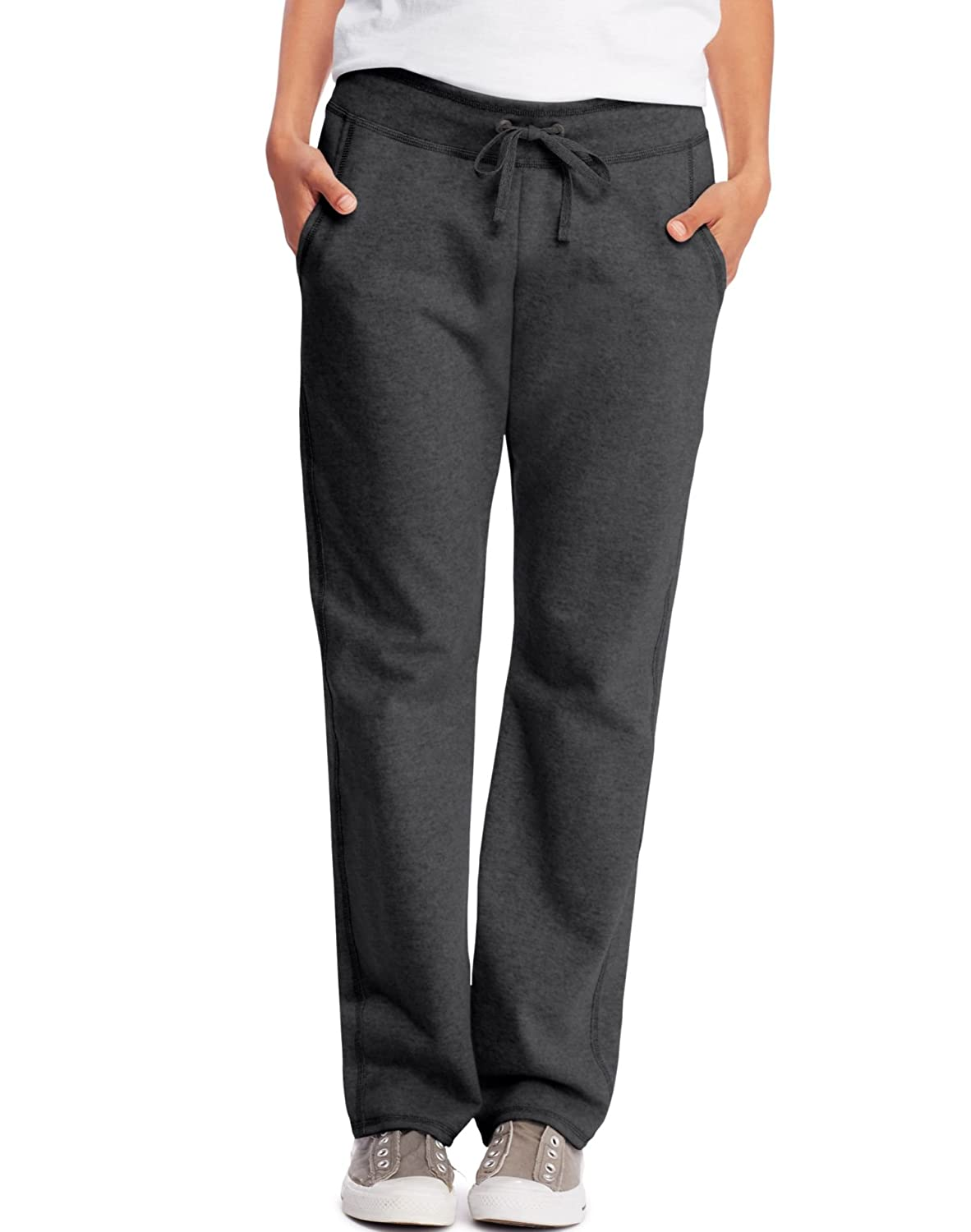 fa7a98d0015 Hanes Womens French Terry Pocket Pant O4677 at Amazon Women s Clothing  store