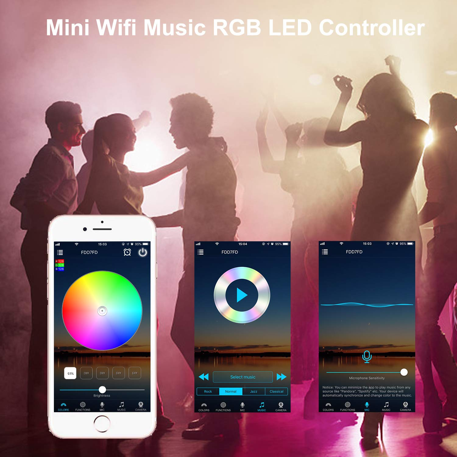 Google Home for Home Outdoor Decoration ALED LIGHT WiFi LED Strip Lights Waterproof 5050 5 Meter SMD 300 LED Rope Lights Smart-Phone APP Controlled RGB Intelligent LED Band Light Work with Alexa