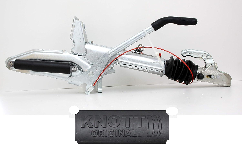 P4U Knott KF 30 C – E – Dispositivo de arranque de freno de hasta 3000 kg con consola de rueda de apoyo 204303.001 204303001 Denominación antigua: KF 30 - C. Lanza en V.