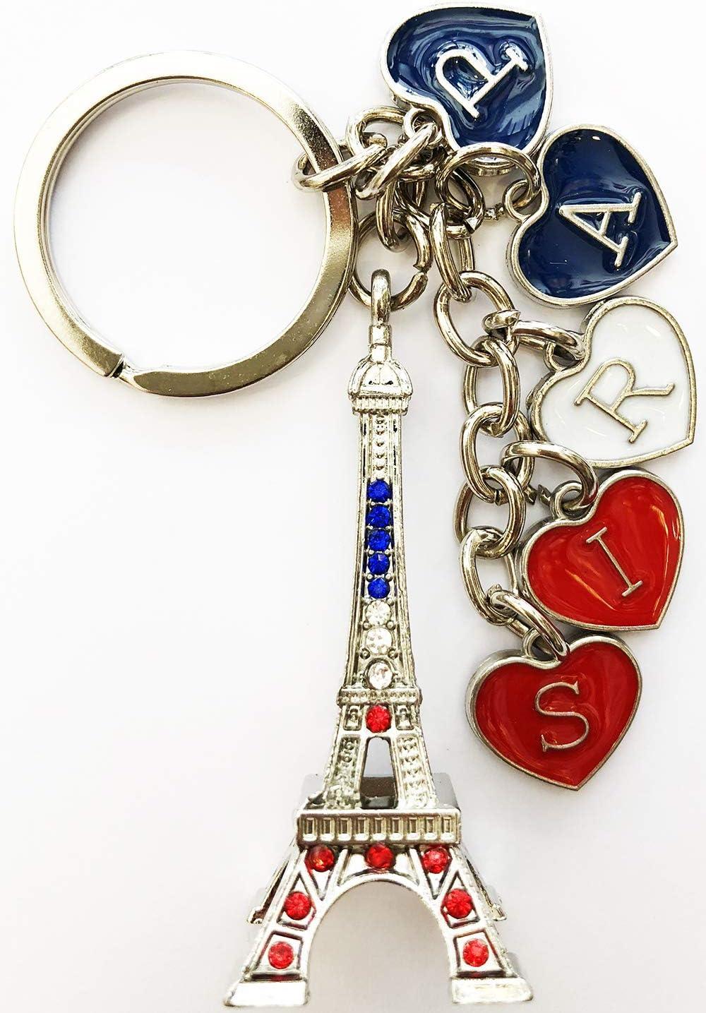 Outus 15 Pi/èces Porte-Cl/és de la Tour Eiffel R/étro Porte-Cl/é Souvenir de France Argent