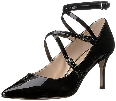 Nine West Women's Mykela Synthetic Dress Pump, Black, ...