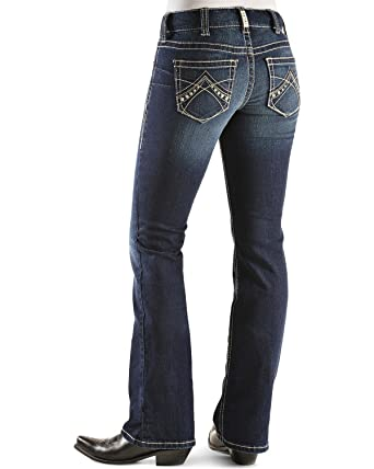 96299217ea01d ARIAT Ladies Real Boot Cut Spitfire Jeans 33 Regul at Amazon Women's ...