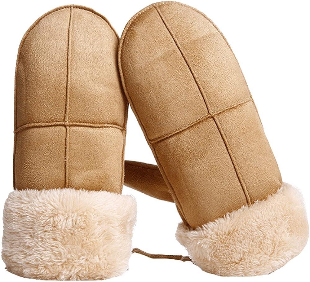 Winter Women Suede Mittens...