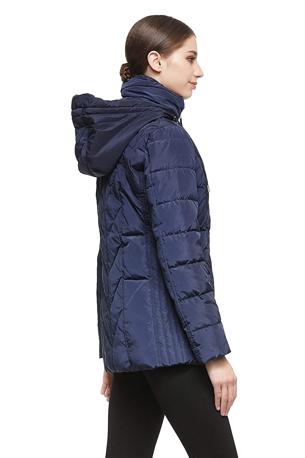 Orolay Womens Thickened Puffer Down Jacket Hooded Coat