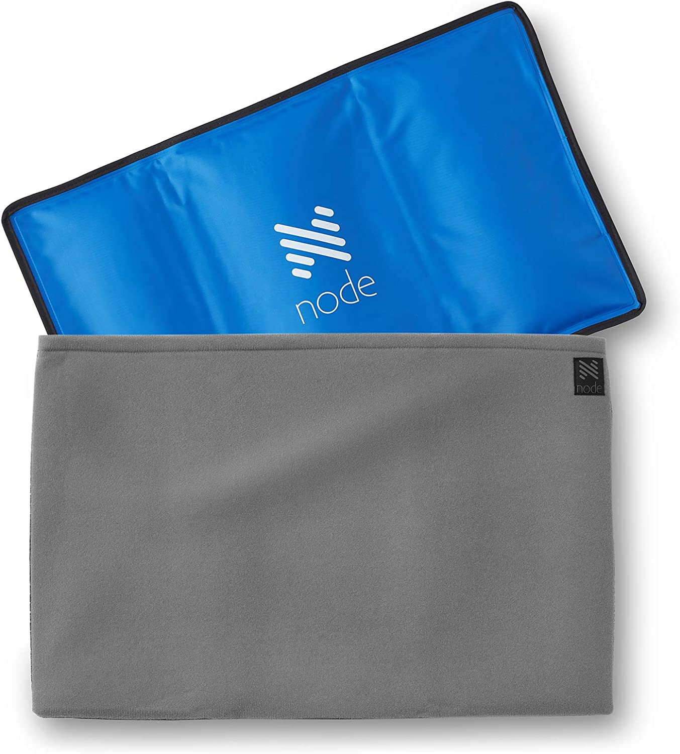 """Node Fitness Hot and Cold Therapy Pack - 14"""" x 21"""" Reusable Gel Ice Compress with Cover"""