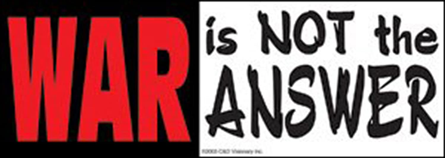 Black and White Sticker C/&D Visionary Inc S-2699 Licenses Products War is Not The Answer Red
