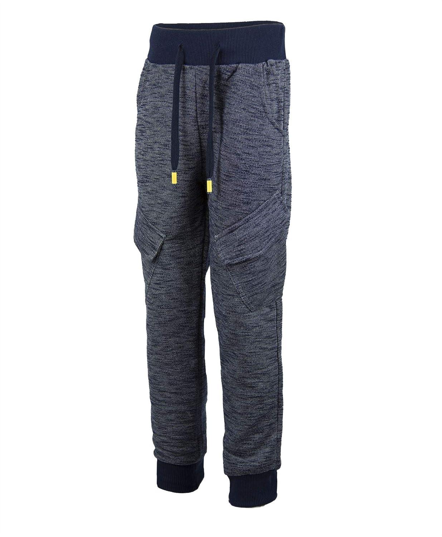 LotMart Kids Marl Print Tracksuit Bottoms Jogging Sweatpants