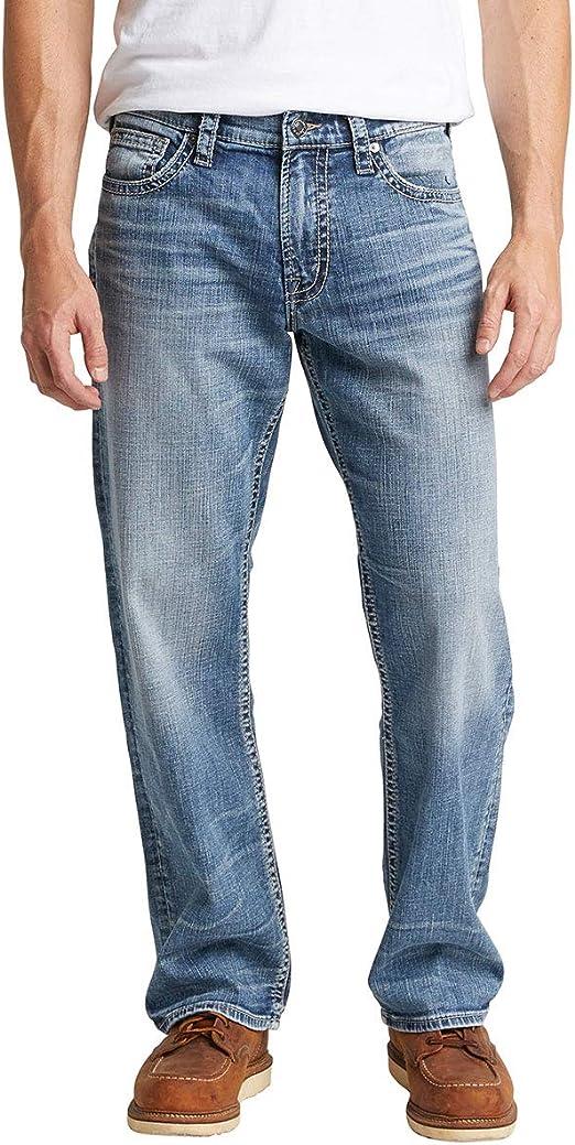 Silver Jeans Co. メンズ Gordie ストレート レッグ ダークウォッシュ ジーンズ