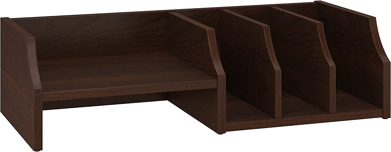 Bush Furniture Key West Desktop Organizer in Bing Cherry