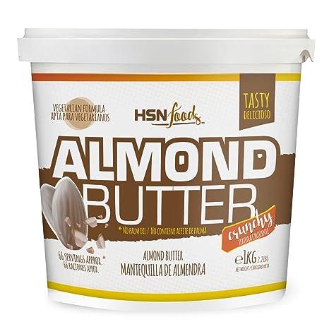 HSN Foods - Mantequilla de Almendras con Textura Crujiente - 100% Natural - Almond Butter