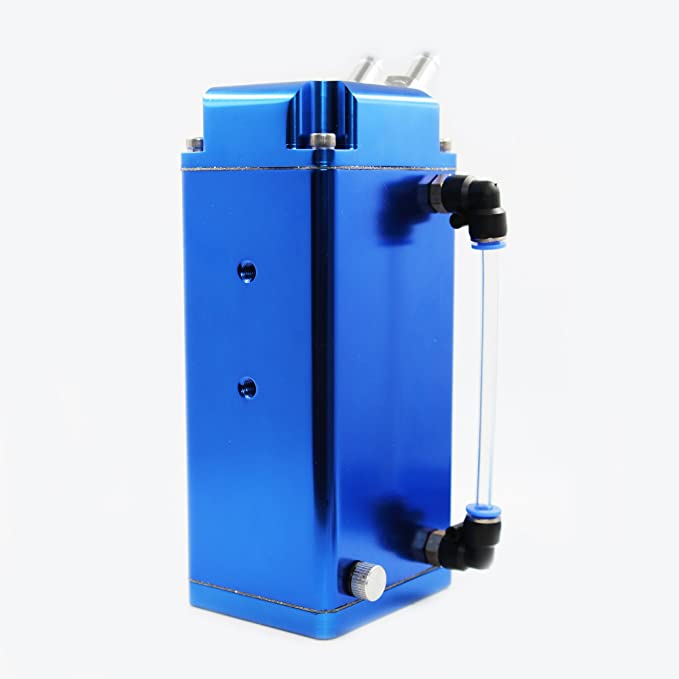 MODAUTO Depósito Aceite de Coche, Decantador de Aceite, Captura de Aceite de Motor, Aluminio Pulido, Cuadrado, Modelo E081BL, Color Azul: Amazon.es: Coche y ...