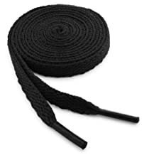OrthoStep Flat Athletic Black 54 inch Shoelaces 2 Pair Pack