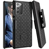 Fingic Galaxy Note 20 Case, Samsung Note 20 Combo Shell Holster Case Slim Fit Shell with Swivel Belt Clip Holster Bulit…