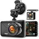 【令和最新版&フルHD1080P】 ドライブレコーダー 前後カメラ デュアルドライブレコーダー 1800万画素 170°広視野角 G-sensor WDR ドラレコ 4.0インチモニター ループ録画 リアカメラ付き Romu