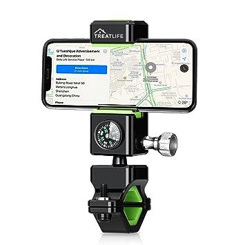 Soporte Movil Bicicleta Moto Montaña Universal Giratorio Smartphone [Treatlife] Accessories Soporte con Iluminación nocturna LED con ...
