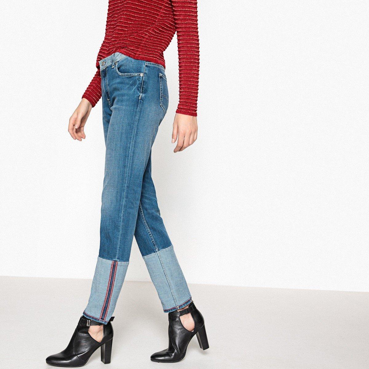Pepe Jeans Womens Heidi Reverse Straight Jeans Blue Size 30 Length 32