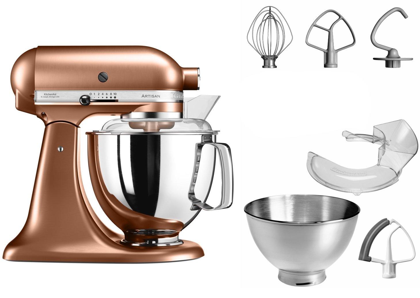 Amazon.de: KitchenAid Artisan Küchenmaschine (Kupfer, Edelstahl, 50 ...