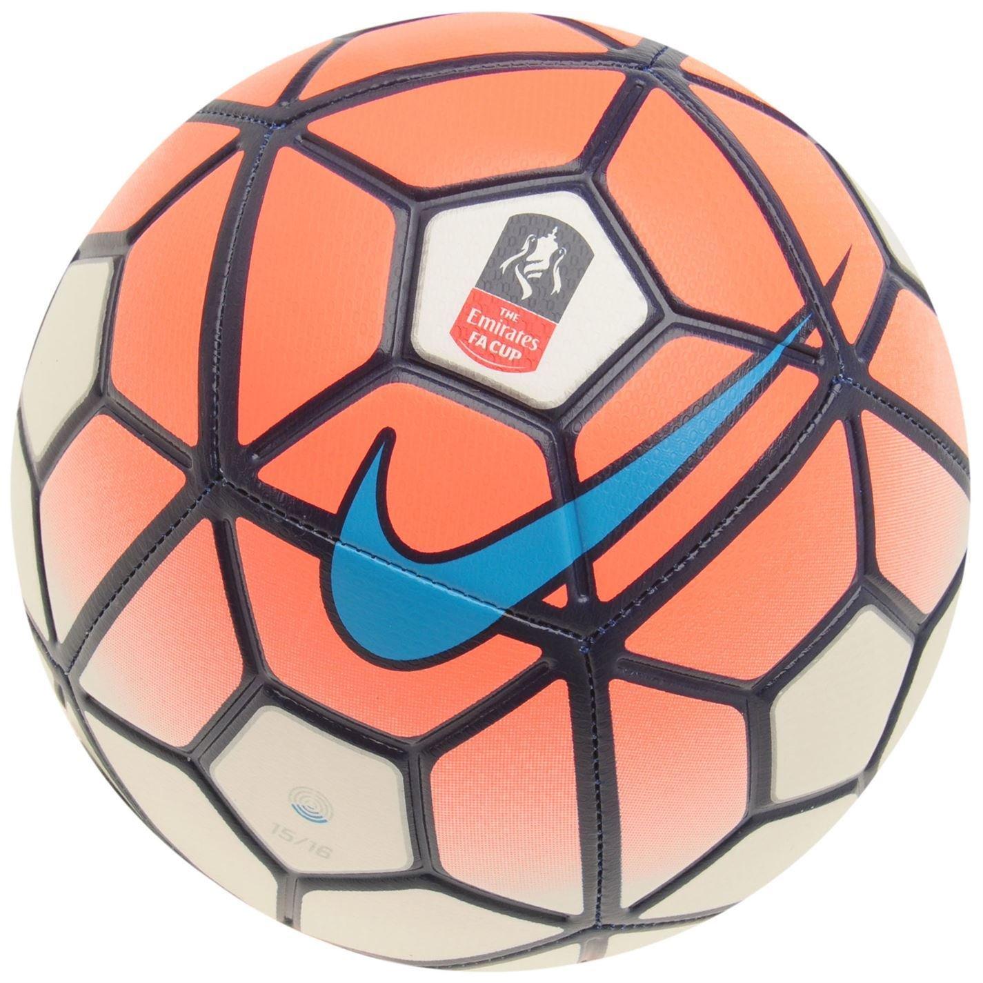 Nike Strike FA Cup Mango/blanco de fútbol balón de fútbol 15/16 ...