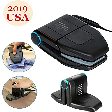 uhmhome Folding Mini Collar Iron Portable Electric Mini Iron Double Ironing for Travel Home Business