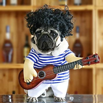Idepet Funny Guitar Dog Costumes Pet Clothing Dog Clothes