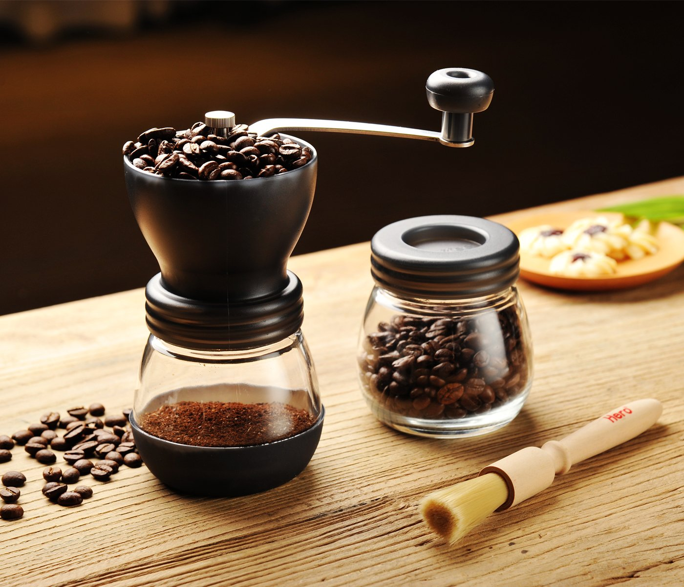 Hero Manual Coffee Grinder-Conical Ceramic Burr Mill,Adjustable Hand Precision Brewing, Black by Hero (Image #6)
