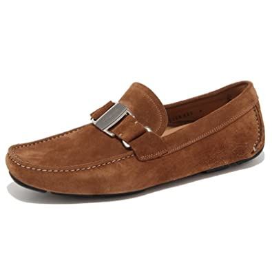 6664N mocassino uomo SALVATORE FERRAGAMO marrone loafer man shoes [41.5-7.5]: Amazon.es: Zapatos y complementos