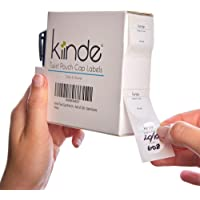 Kiinde Twist Cap Write-On Labels for Breast Milk Storage Pouches (Pack of 250) with Marker Included - Date/Volume