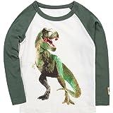 Bleubell Toddler Boys T-Rex Long Sleeve Dinosaur T Shirt 2-7 Years