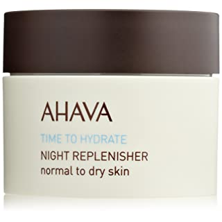 AHAVA Dead Sea Night Replenisher, Time to Hydrate - Normal to Dry Skin, 1.7 Fl Oz
