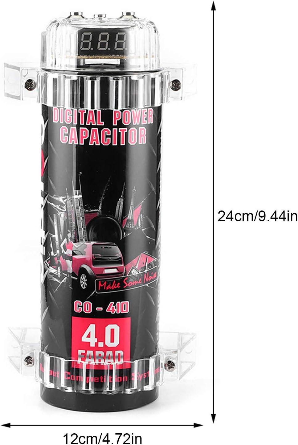 Kimiss Digitalkondensator 4 Farad Power Kondensator Led Spannungsanzeige Power Cap Car Audio Verstärker Auto