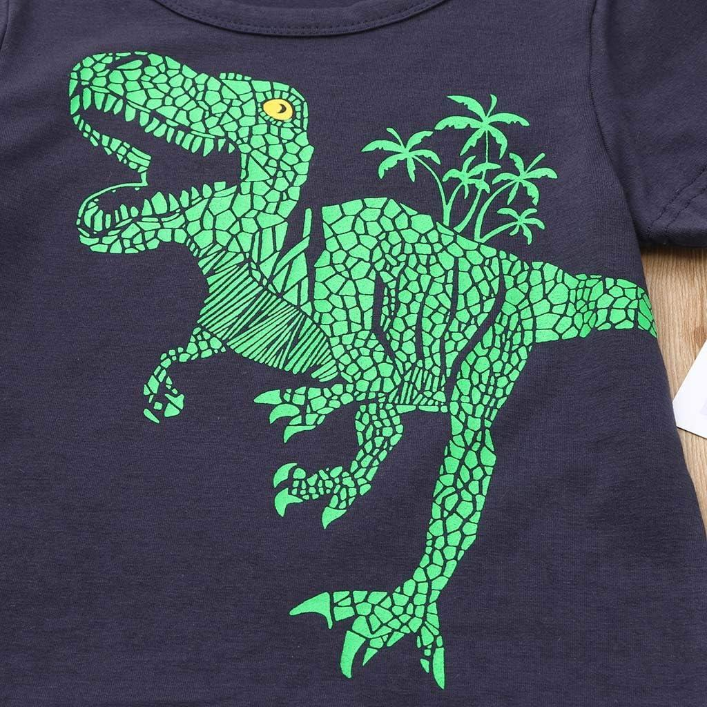 Hosen Outfits Set JUTOO 2 St/ücke Set Sommer Kleinkind Baby Kinder Jungen Dinosaurier L/ässige Nachtw/äsche Tops