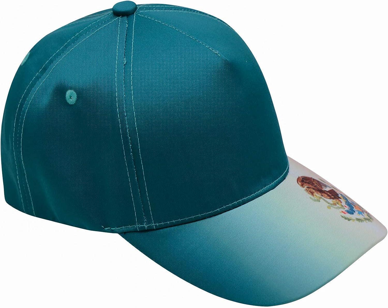 Xie Junsss Tacos Lover Logo Mexico Flag Baseball Cap,Adult Outdoor Dad Hat Adjustable Snapback Green