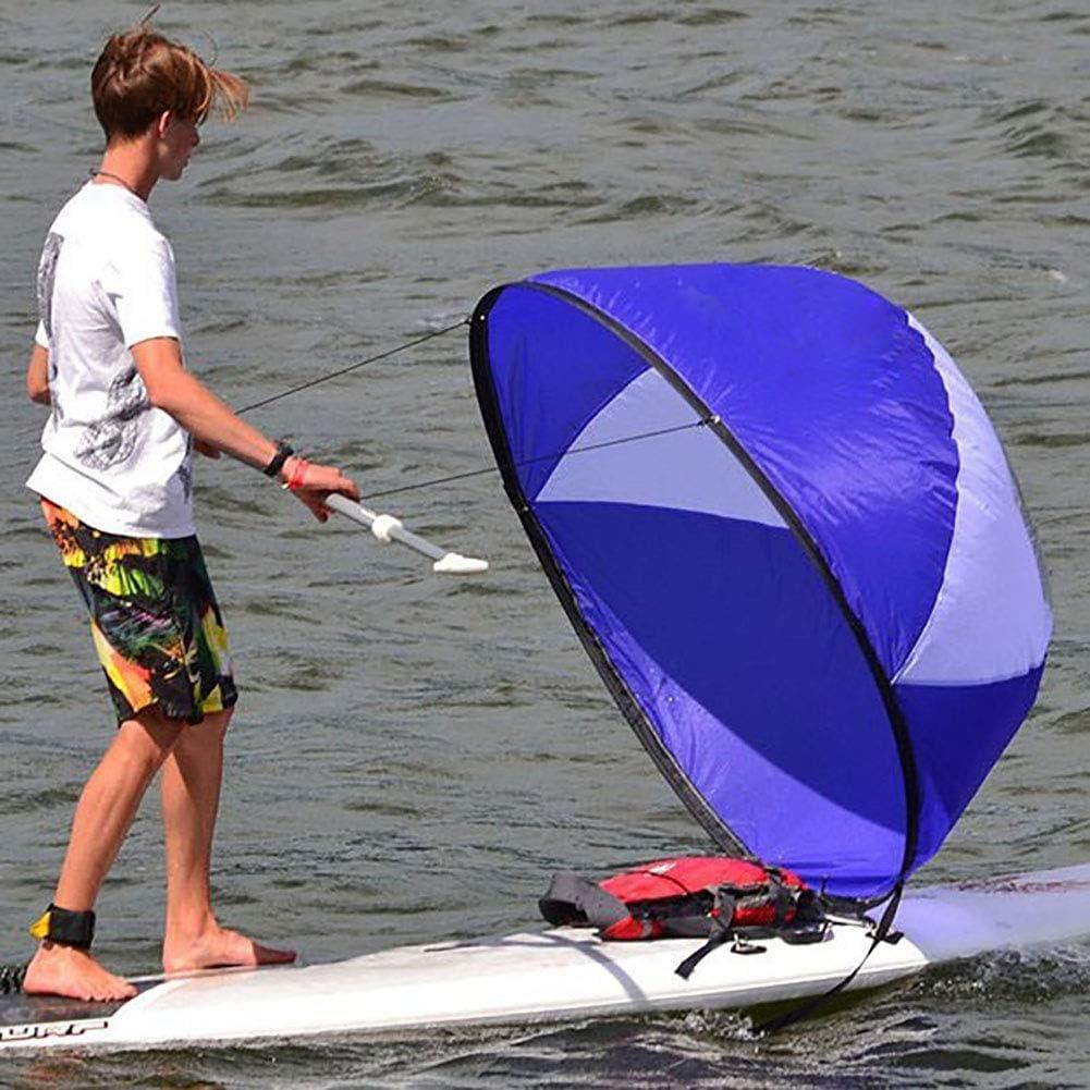 42/'/' Folding Kayak Boat Wind Sail Sup Paddle PVC Windpaddle Sailboat Easy Setup