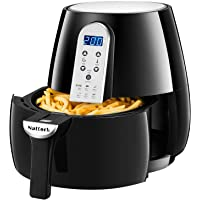 Nattork 4.5 QT Smart Programmable Electric Air Fryer Oil Free Cooking With LED Touch Screen (1500Watts)